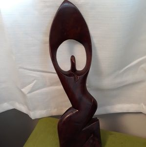Handmade in Ghana african carved statue
